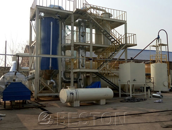 Diesel From Plastic Waste Oil Distillation Plant