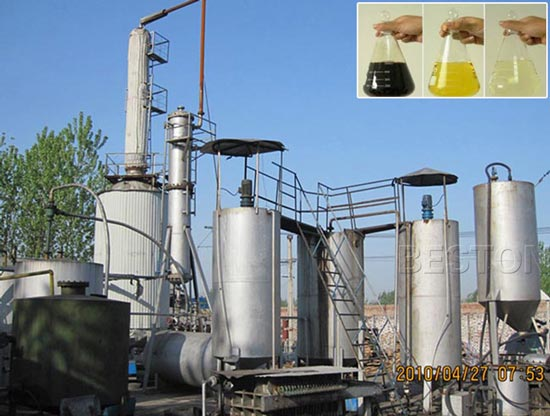 Plastic Oil Distillation Process