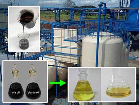 The Machine To Convert Plastic To Diesel Oil