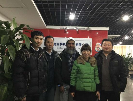 Bangladesh customers come to visit Beston Machinery