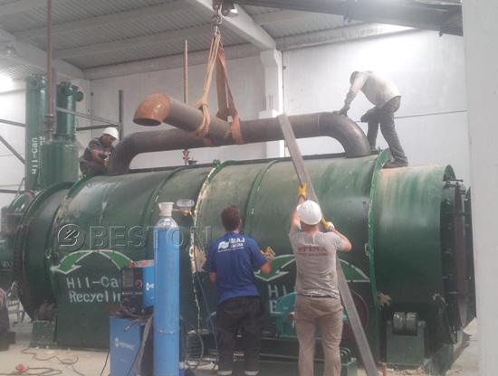Pyrolysis Plant Was Being Installed In Turkey