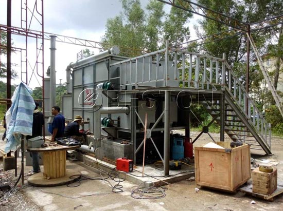 Carbonization Machine Was Installed In Malaysia