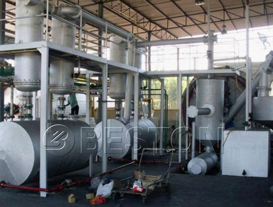 Rubber Pyrolysis Oil Plant