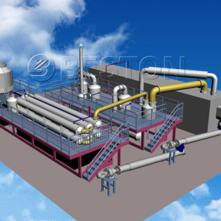 Continuous Waste Rubber Pyrolysis Plant