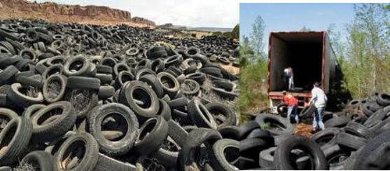 scrap tires in landfills