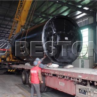 Beston pyrolysis equipment was sent to South Korea