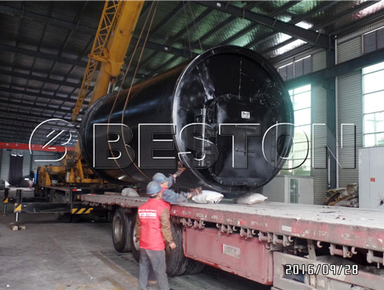 Beston pyrolysis equipment was sent to South Korea