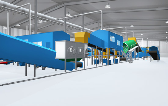 Beston Waste Sorting Machinery - 3D Model Domenstration