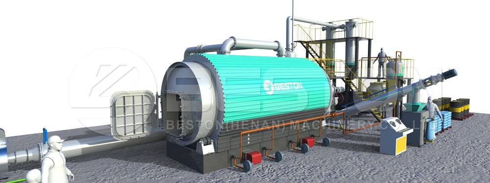 Waste Tire Recycling Plant