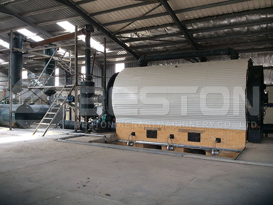 Waste Tyre Pyrolysis Plant in Jordan
