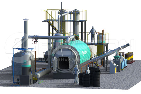 Get Good Tyre Pyrolysis Plant for Sale from Beston